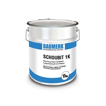 Bitumen-Rubber Modified, Water Based, Elastomeric Liquid Membrane - SCHOUBIT 1K