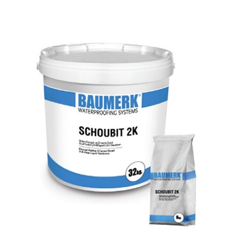 Bitumen-Rubber Based, Cement and Fiber Modified, 2 Component, Liquid Membrane - SCHOUBIT 2K
