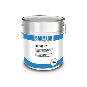 Bitumen-Rubber Based, Anti-root, Super Elastic Liquid Membrane - BROOT 120