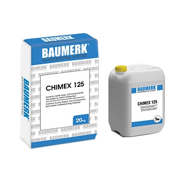 Cement-Acrylic Based, Two-Component Semi-Elastic Waterproofing Material - CHIMEX 125