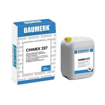 Cement-Acrylic Based, Two Component, Waterproofing Material for Negative-Positive Applications - CHIMEX 227