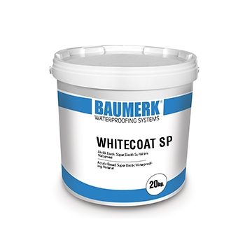 Elastomeric Resin Based, UV Resistant, Super Elastic Waterproofing Material - WHITECOAT SP
