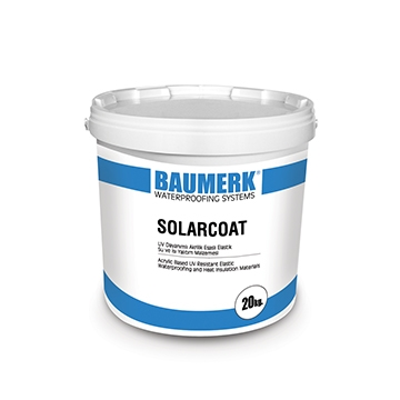 UV Resistant, Acrylic-Based, Waterproofing and Heat Insulation Material - SOLARCOAT