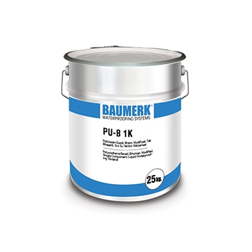 Polyurethane Based, Bitumen Modified, Single Component, Liquid Waterproofing Material - PU-B 1K