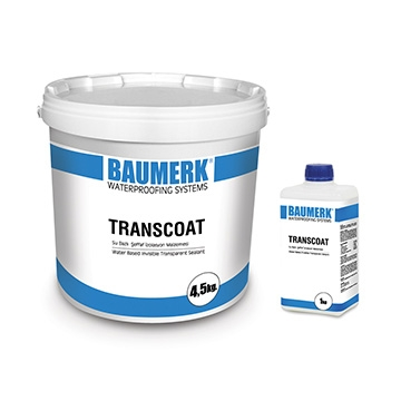 Water Based, Transparent Waterproofing and Impregnating Material - TRANSCOAT