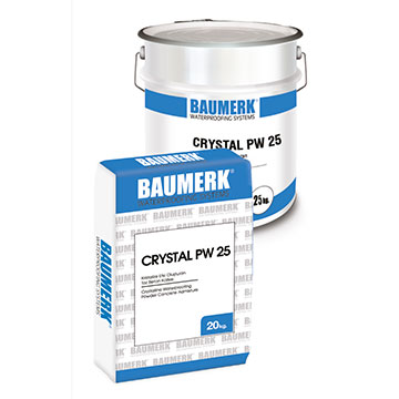 Crystalline Waterproofing Powder Concrete Admixture - CRYSTAL PW 25